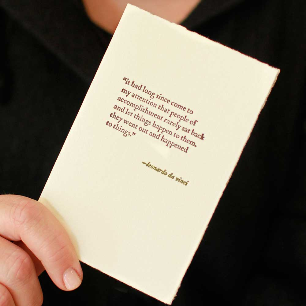 A card from Bridget Verdun's greeting line, Occasionally Speaking